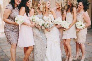 Casablanca Wedding Dress for a Shabby chic wedding with blush and champagne colours
