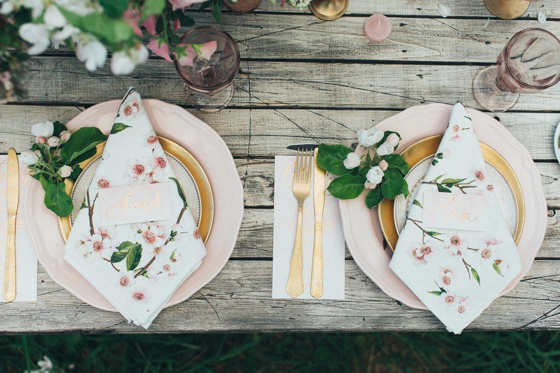wedding place setting | Romantic Ethereal wedding inspiration { Fresh and Subtle Shades } Photography : pshefter.com | read more on fabmood.com #weddinginspiration :