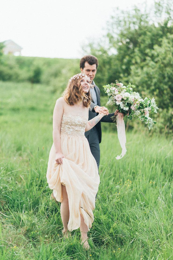 Bluebells wedding dress | Romantic Ethereal wedding inspiration { Fresh and Subtle Shades } Photography : pshefter.com | read more on fabmood.com #weddingdress :