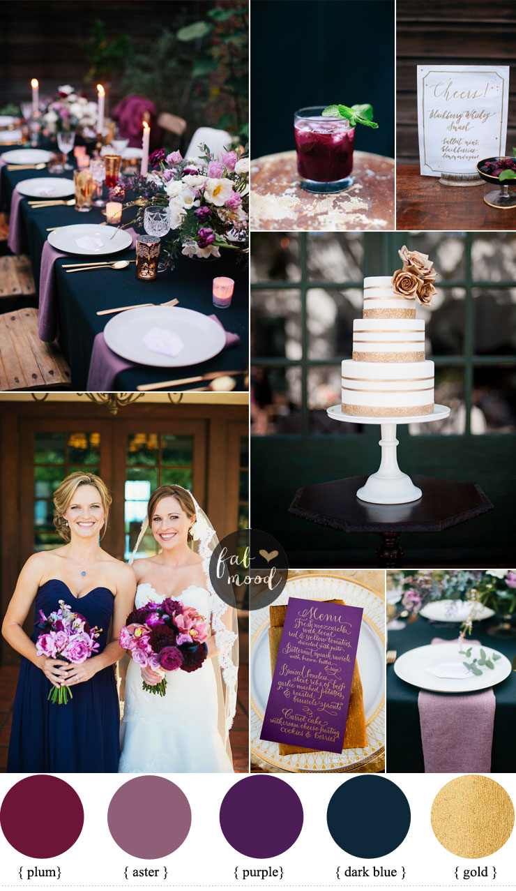 Midnight Blue And Purple Wedding | fabmood.com