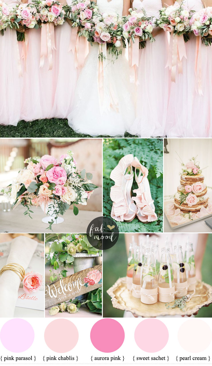 Pink wedding - Classic wedding color ideas for classic brides | fabmood.com