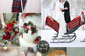 Red and Green Winter Wedding With Rich Tartans | fabmood.com #christmaswedding