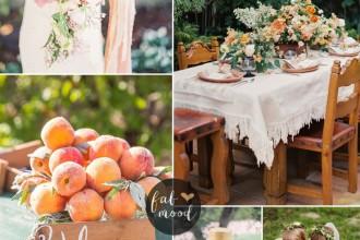 Whimsical garden wedding theme { Peach + Tulle } fabmood.com