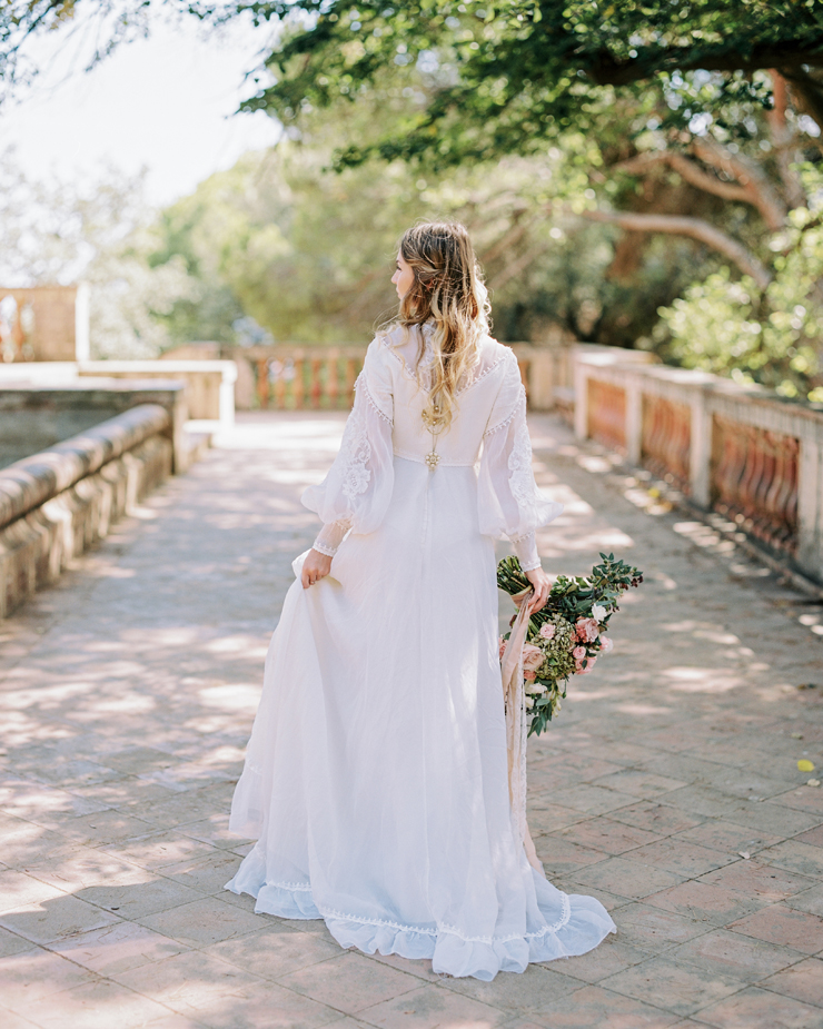 gorgeous back wedding dress | Barcelona Destination Wedding Inspiration at The Labyrinth Park from kseniyabunets.com | Read #weddinginspiration full post on fabmood.com
