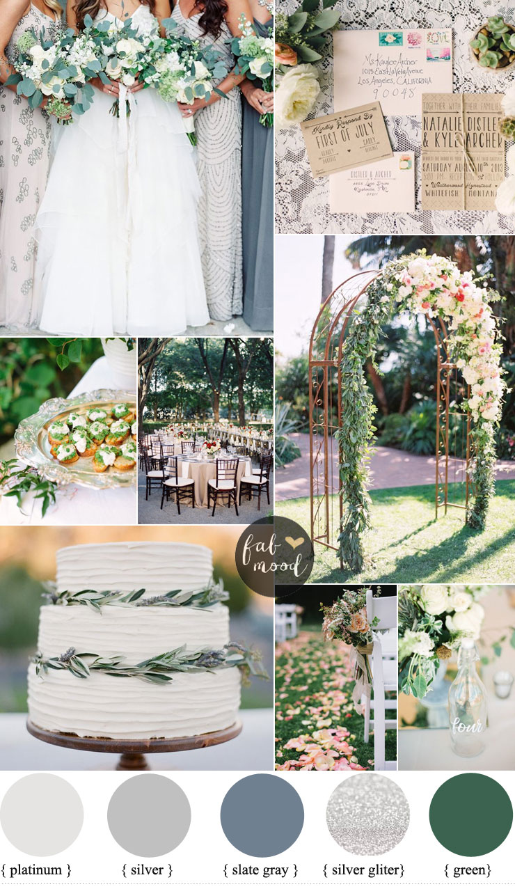 Rustic and Glam Wedding { Platinum gray silver and slate gray ...