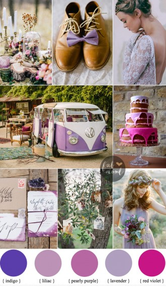 Bohemian Wedding Inspiration In Romantic Shades of Purple { Iavender + lilac + indigo + red violet and pearly purple } Fab Mood - UK Wedding Blog