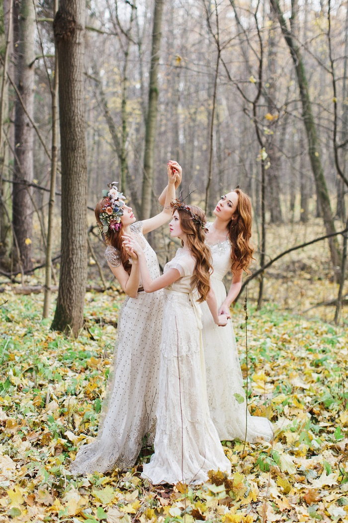 Enchanted forest fairytale wedding in shades of autumn 1
