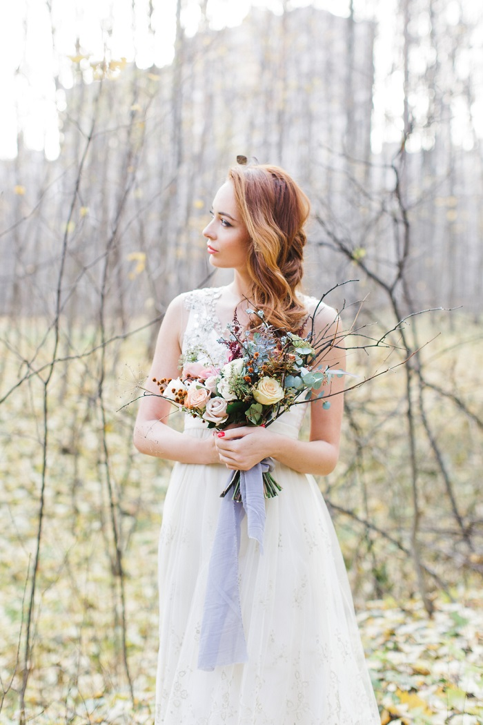Pinterest Names Blush Pink And Mint Green As Its 2016: Enchanted-forest-fairytale-wedding-in-shades-of-autumn 1