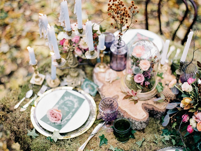 Enchanted Forest Fairytale Wedding In Shades Of Autumn Fabmood
