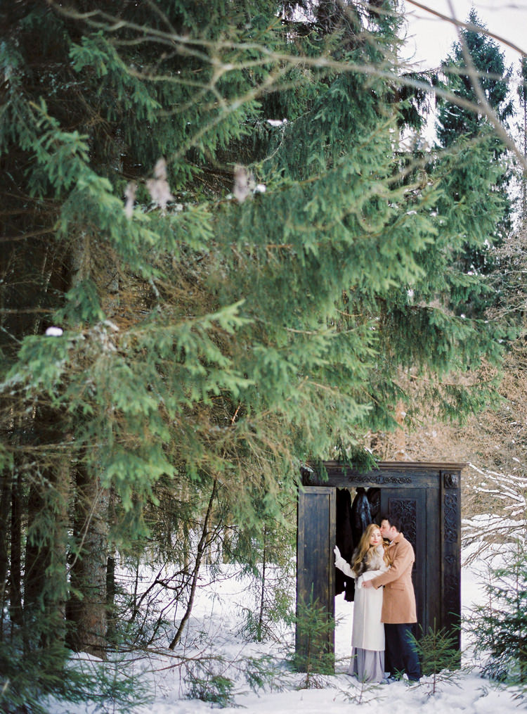 Narnia Inspired Winter Wedding Inspiration - winter wedding dress | Yaroslav and Jenny Photography | Read more on fabmood.com