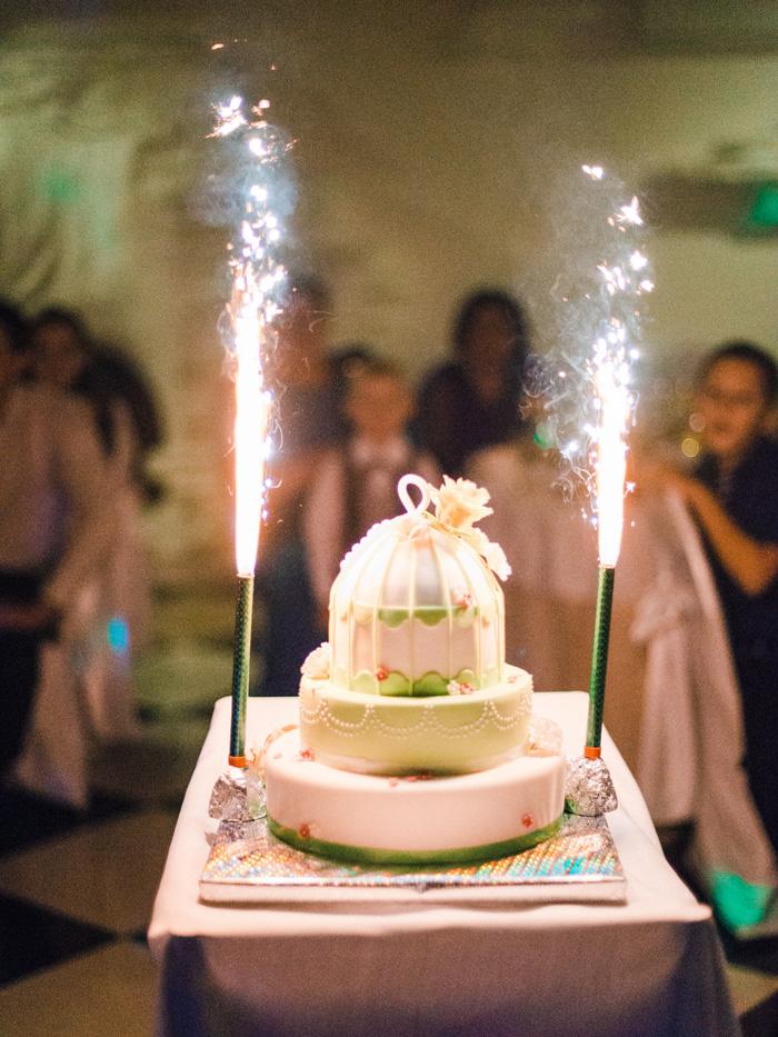Whimsical Carousel Wedding | carousel wedding cake with sparkle | fabmood.com