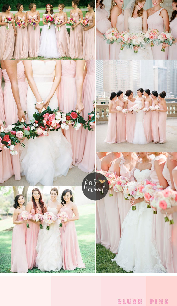 Bridesmaids dresses by colour and theme that could work for bridesmaids dresses by colour blush pink bridesmaids fabmood ombrellifo Images