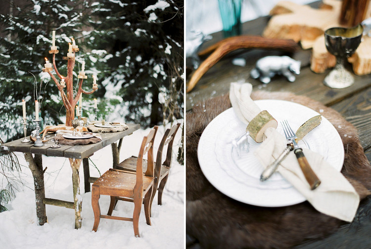 winter wedding table decorations, narnia inspired table decors, narnia wedding tablescape, winter wedding table decoration ideas, winter wedding in snow