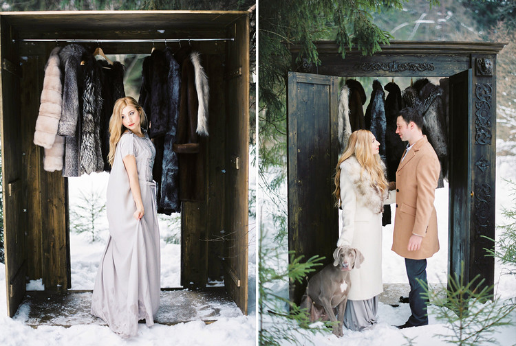 narnia inspired winter wedding, narnia themed wedding, narnia winter wedding , winter wedding ideas , winter wedding in snow #winterwedding wedding photo portraits