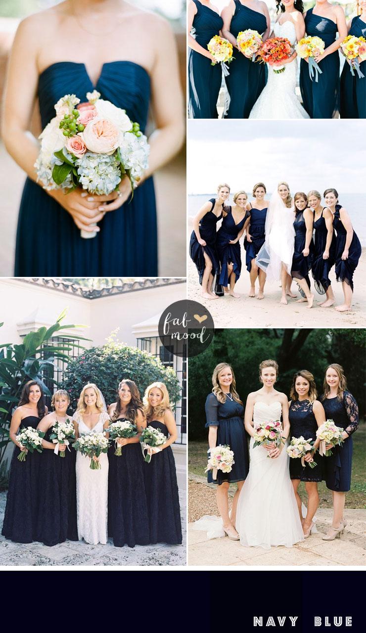 bridesmaids dresses by colour : navy blue bridesmaids dresses | fabmood.com