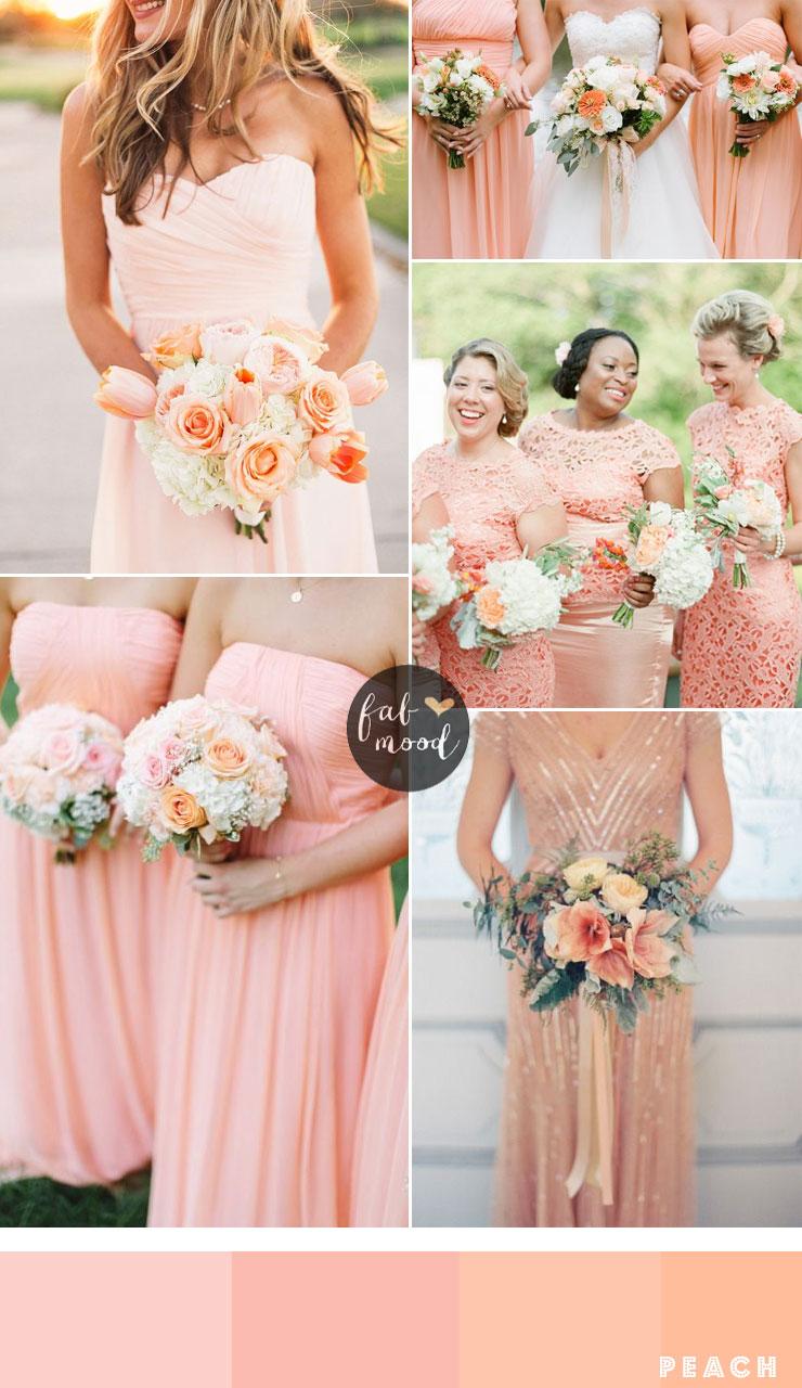 Bridesmaids Dresses By Colour Peach Fabmood
