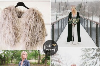 Bride and Bridesmaids cover up ideas | Wedding cover ups | fabmood.com