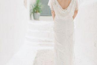 Cowl back lace wedding dress | fabmood.com #weddingdress #weddinginspiration #weddingideas #bridaldress