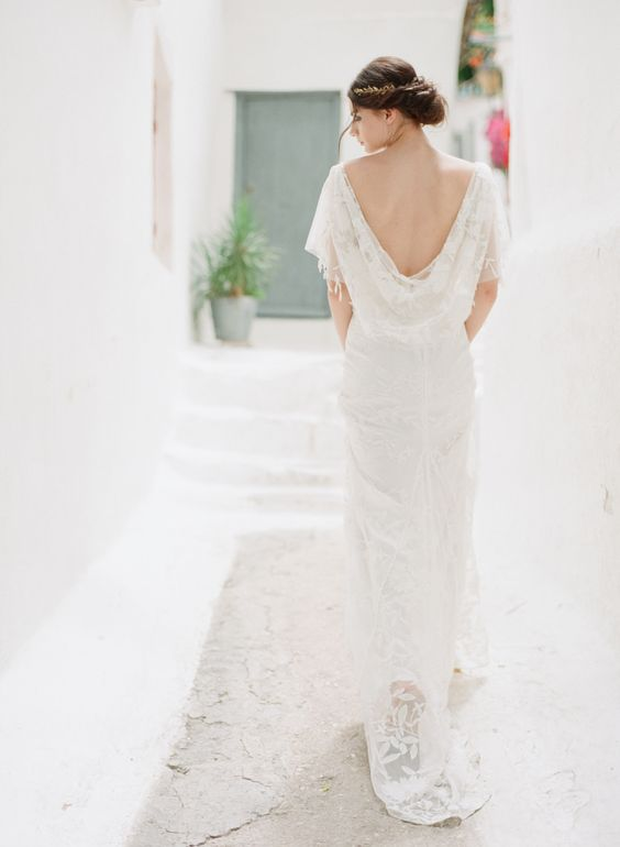 Cowl back wedding dresses - Cowl back lace wedding dress | fabmood.com #weddingdress #weddinginspiration #weddingideas #bridaldress