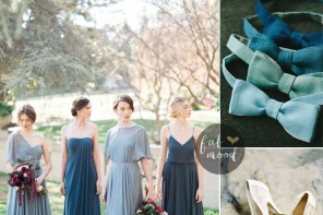 Different shades of blue green Wedding { Midnight Green + gray + teal + blue green | Fab Mood - UK wedding blog