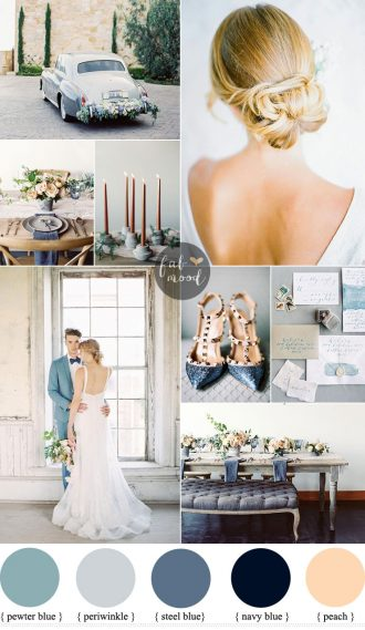 Intimate and Elegant Wedding In Blue and Peach | fabmood.com #blue #intimate
