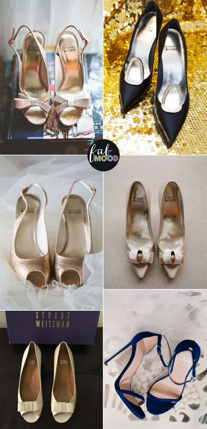 Stuart Weitzman bridal shoes | fabmood.com