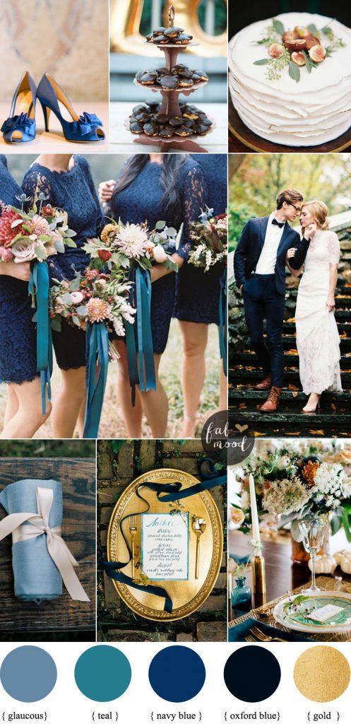 Navy Blue And Teal Wedding Colour Theme Fabmood Com