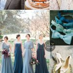 Teal and midnight green wedding colour theme | fabmood.com