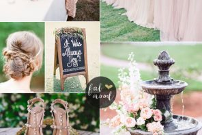 Blush wedding color for garden wedding | fabmood.com