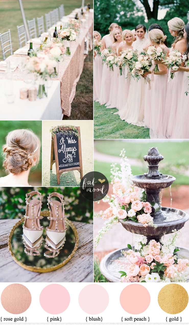 Blush Pink Wedding Theme 36 Pretty Blush Pink Color Combinations
