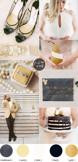 A Chic and Modern Wedding: Black and Gold | fabmood.com