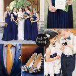 Navy blue and orange wedding colour palette | fabmood.com