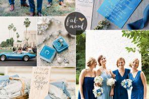 Mismatched blue bridesmaid dresses for a Fun Filled Garden Wedding | fabmood.com