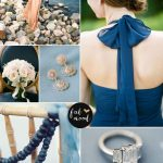 Navy blue and peach wedding colour combinations