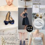 Navy blue and silver wedding colour schemes