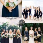 Navy blue bridesmaid dresses | fabmood.com