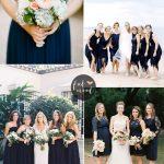 Navy blue bridesmaid dresses | fabmood.com