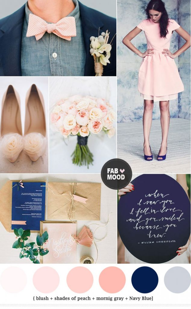 Navy blue and peach wedding colour theme | fab mood ...