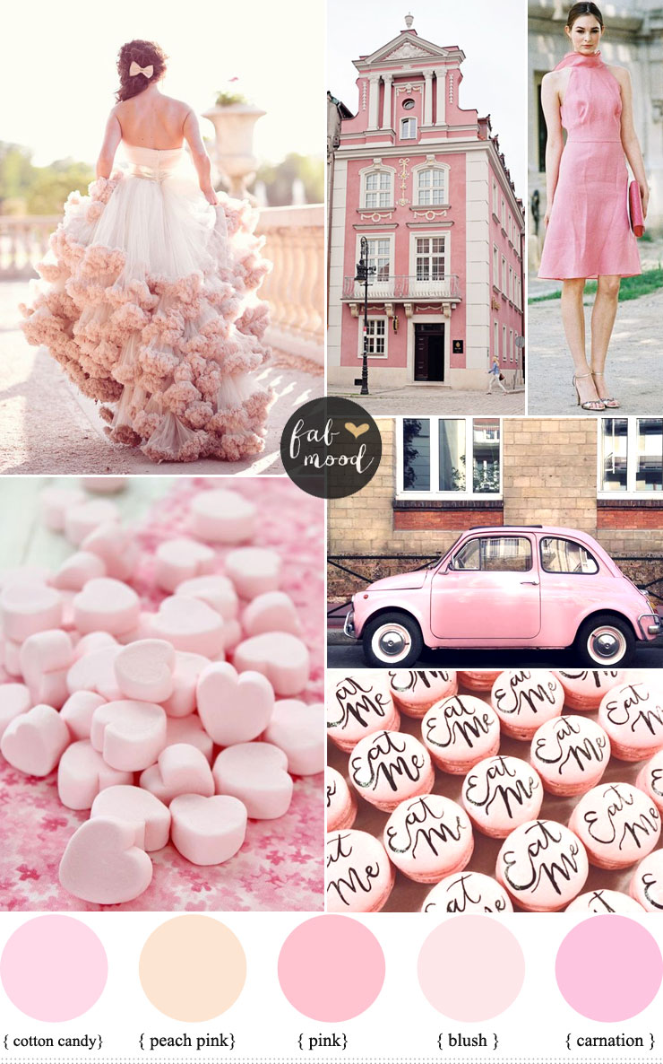Pink Wedding Colour Schemes | fabmood.com