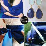 Royal blue wedding colour ideas, blue and mint wedding mood board