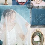 Vintage style wedding in shades of blue wedding motif | fabmood.com