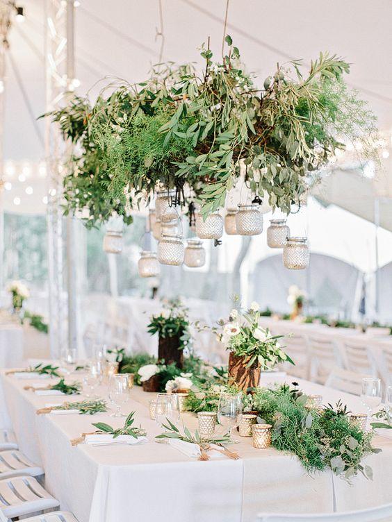 Greenery Wedding Chandeliers Whimsical To Elegant