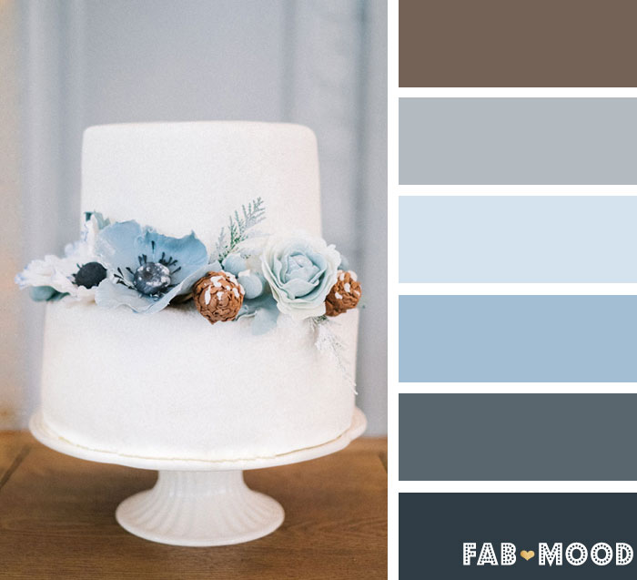 Blue and White winter wedding color palette | fab mood