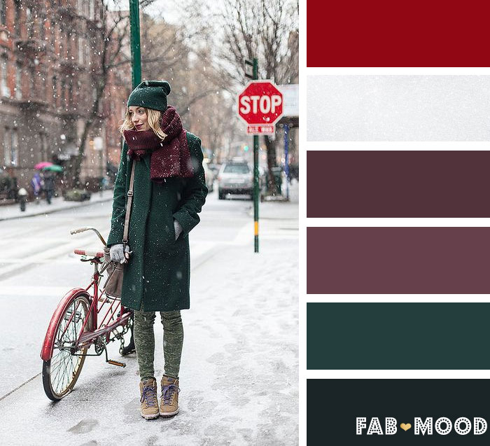 Deep plum and dark green wedding color palette | fab mood