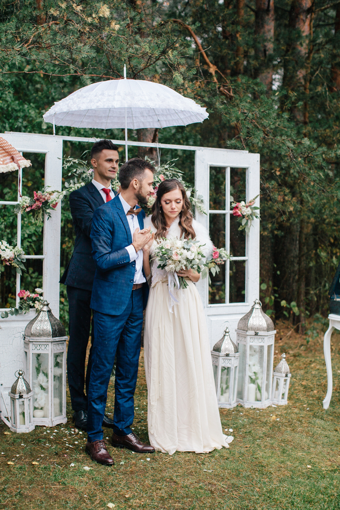 A Handmade Wedding Dress For A Woodland Themed Wedding