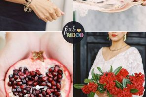 Pantone Aurora Red and Black wedding colour combinations | fabmood.com