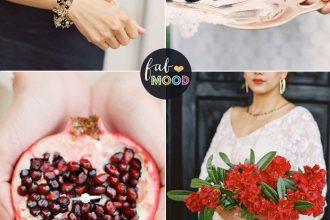 Pantone Aurora Red and Black wedding colour combinations | fabmood.com