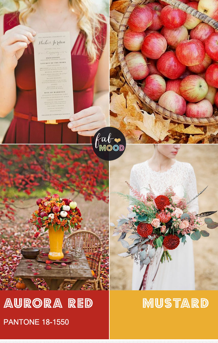Pantone Aurora Red combined with mustard { Pantone Color Fall 2016 } fabmood.com
