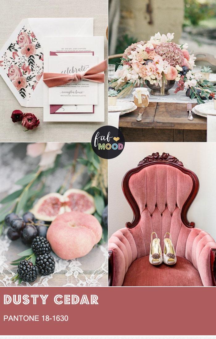 Pantone Dusty Cedar { Pantone Color Fall 2016 } Dustier rose-toned Pink shade - fabmood.com