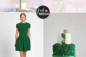 Pantone Lush Meadow green wedding   fabmood.com